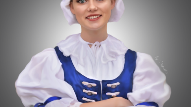 Alexandra z UFS Mladosť v Kroje z Myjavy